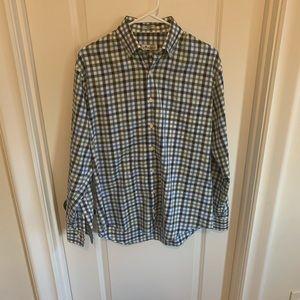 Blue and green peter Millar button down shirt